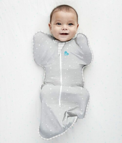 SWADDLE UP™ Lite 0.2 TOG Gray Stars