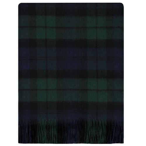 Black Watch Modern Tartan Lambswool Blanket
