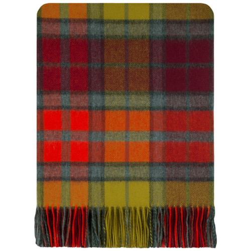 Buchanan Berry Tartan Lambswool Blanket