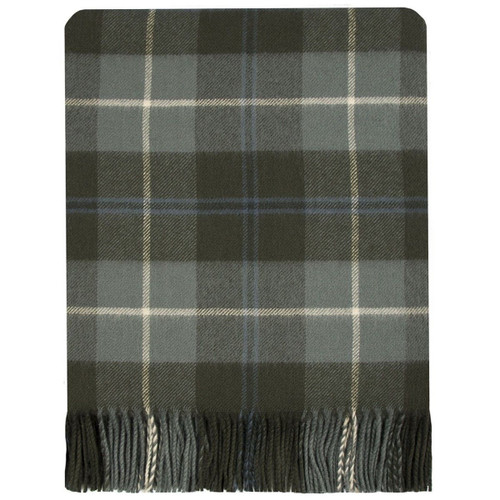 Douglas Weathered Tartan Lambswool Blanket