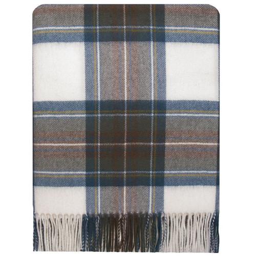 Stewart Blue Dress Tartan Lambswool Blanket