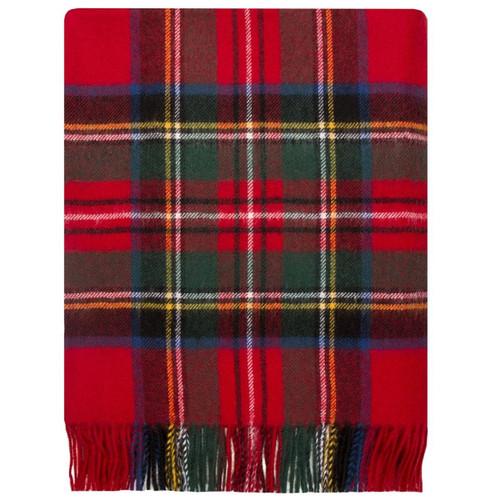 Stewart Royal Modern Tartan Lambswool Blanket