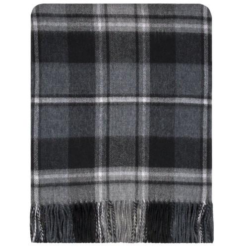 McRae Hunting Grey Tartan Lambswool Blanket