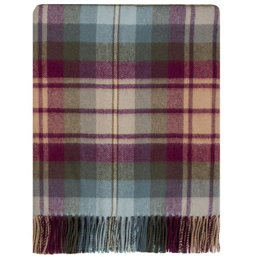 Auld Scotland Tartan Lambswool Blanket