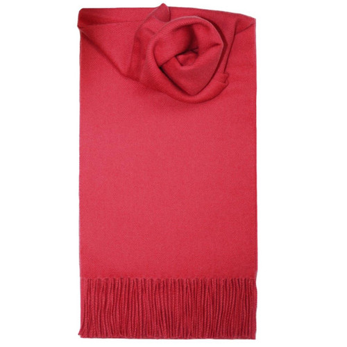 Bright Pink Plain Coloured Lambswool Scarf