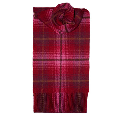 Lauriston Heritage Check Lambswool Scarf
