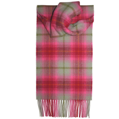 Lilliesleaf Bright Check Lambswool Scarf