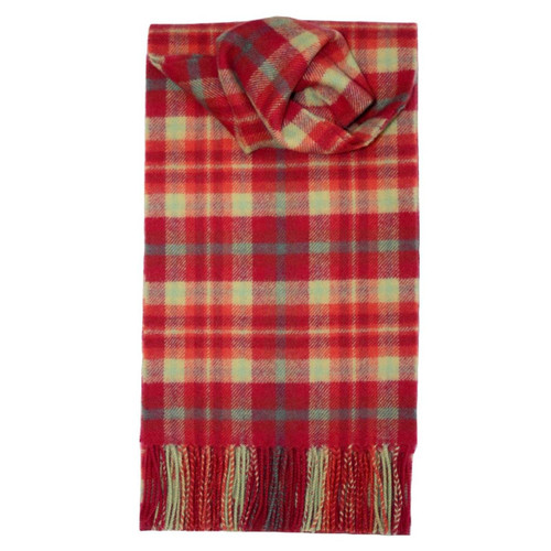 Highland Rose Tartan Lambswool Scarf