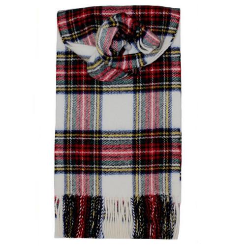 Stewart Dress Modern Tartan Lambswool Scarf