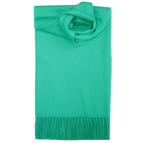 Aqua Plain Coloured Lambswool Scarf