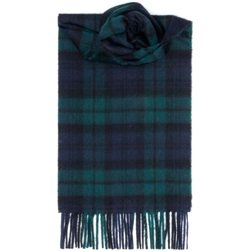 Black Watch Modern Tartan Luxury Cashmere Scarf
