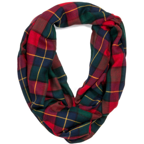 Kilgour Modern Tartan Fine Wool Infinity Scarve