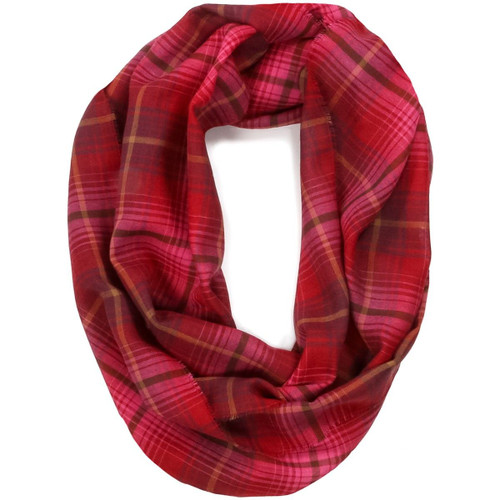 Lauriston Check Fine Wool Infinity Scarve