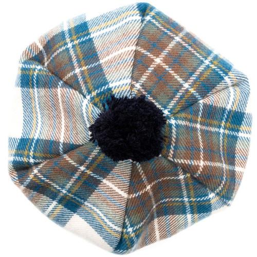 Stewart Blue Dress Tartan Brushed Wool Tam