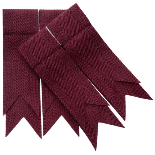 Maroon Plain Coloured Flashes