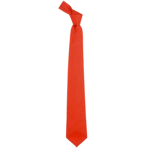 Red Ancient Plain Coloured Wool Tie