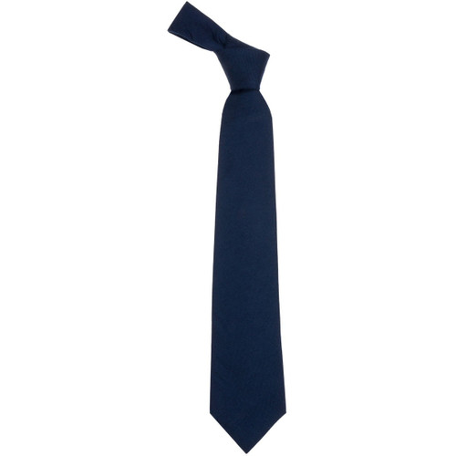 Navy Plain Coloured Wool Tie
