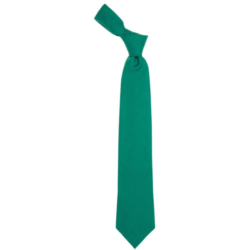 Green Ancient Plain Coloured Wool Tie