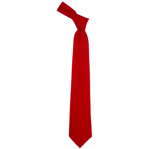 Scarlet Plain Coloured Wool Tie