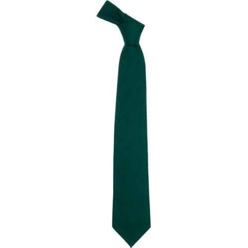 Bottle Green Plain Coloured Wool Tie