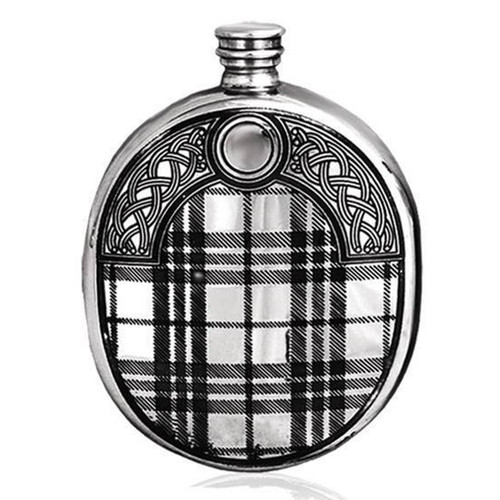 6oz Tartan Design Pewter Hip Flask