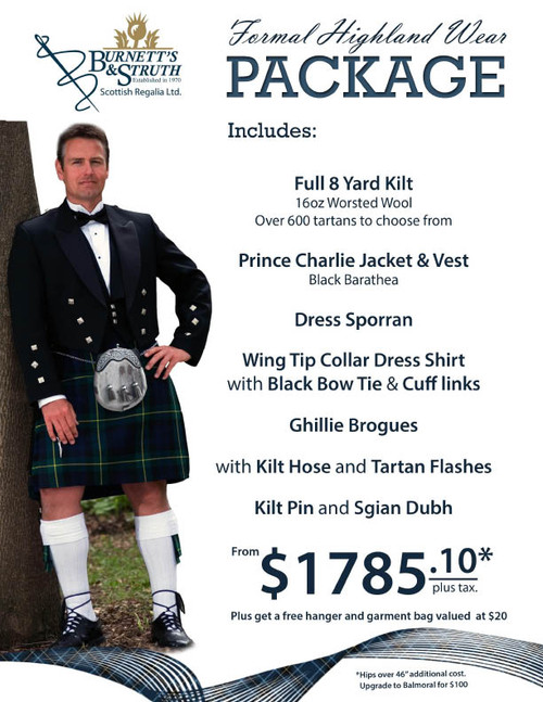 Highland Kilt Package
