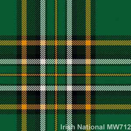 100% Pure New Wool kilting cloth available in 32 Irish County tartans.