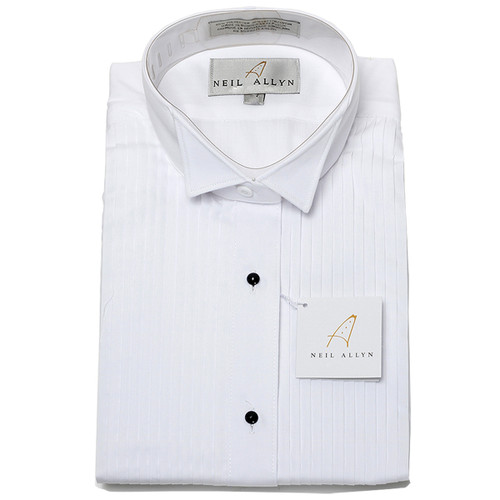 Wing Tip Collar Dress Shirt  - white