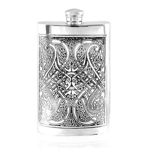 8oz Pewter Hip Flask