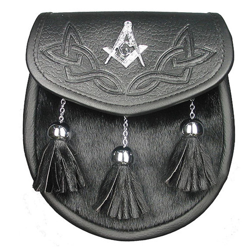 Semi Dress Masonic Sporran with Crest