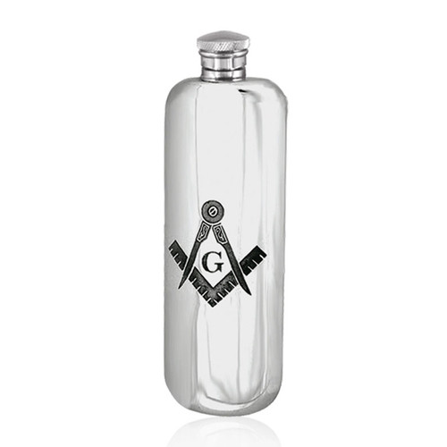 3oz Masonic Pewter Hip Flask