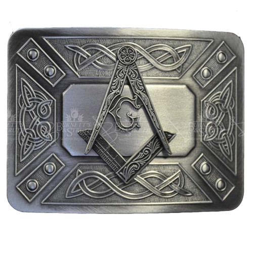 Masonic Belt Buckle with Celtic Designs