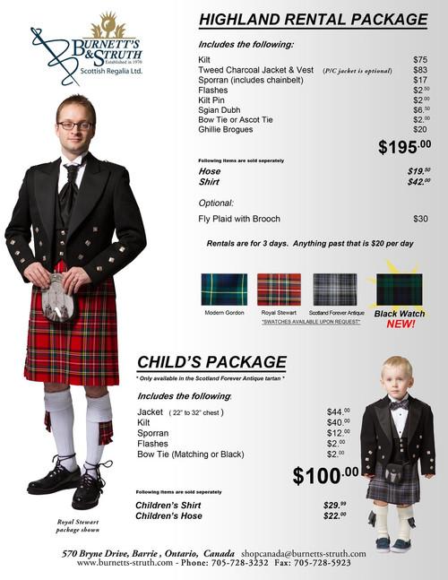 Royal Stewart Rental Package