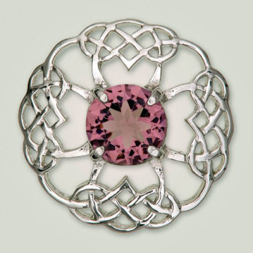 Celtic Brooch with Purple Stone