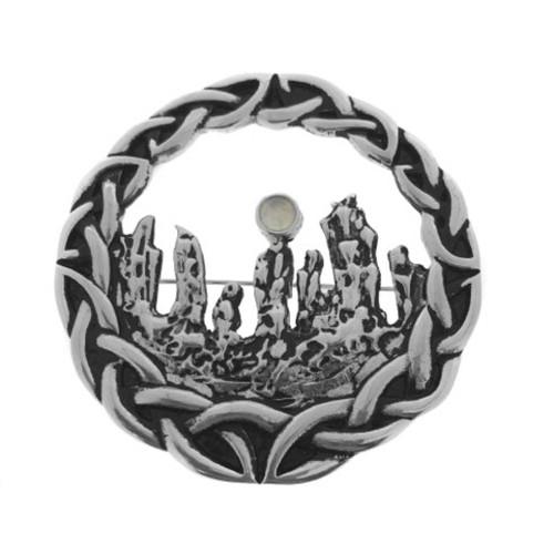Outlander inspired large Standing Stones Brooch