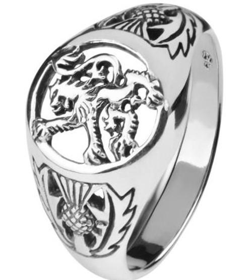 Scottish Lion Silver Signet Ring