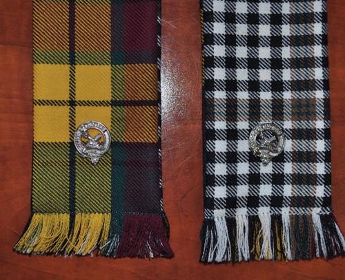 Tartan Wedding Hand Tie with clan crests