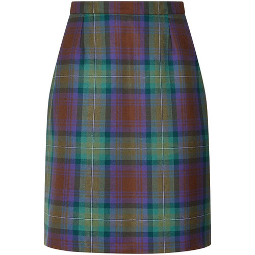 Ladies Tartan Straight Skirt (front)