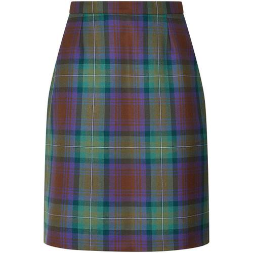 Ladies Tartan Straight Skirt (front)