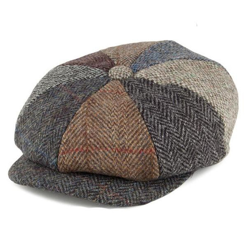 Medium 8 piece tweed Cap