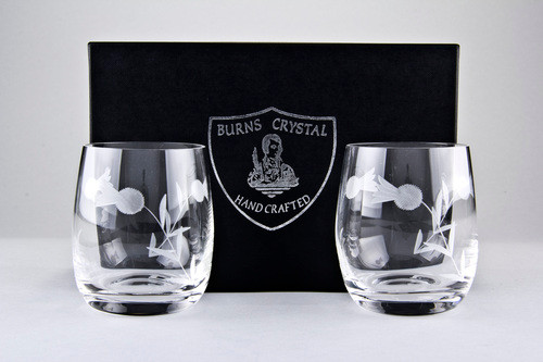 Flower of Scotland Whisky Glass 8oz Pair
