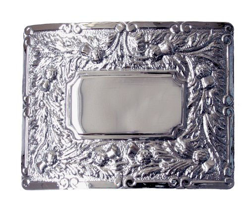 Pipers Belt Buckle 2.5 inch with Thistles
