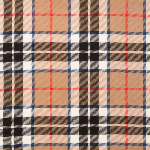 Thompson Camel Light Weight Tartan Fabric