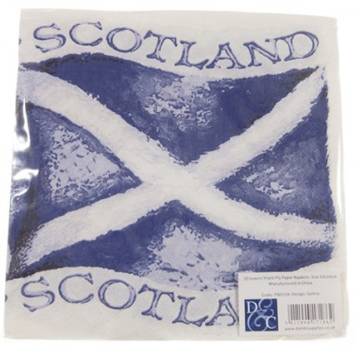 Saltire Flag Napkins (Paper) Pack of 20