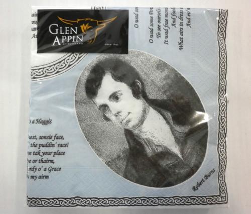 Robert Burns Paper Napkins
