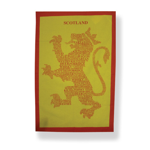 Rampant Lion Tea Towel