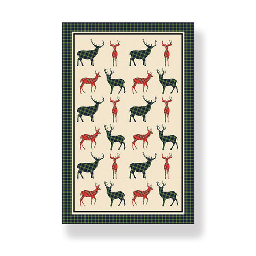 Tartan Stag - 100% Cotton Kitchen TEA TOWEL