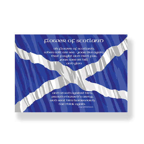 Flower of Scotland Tea Towel