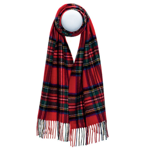 Darwin Stewart Royal Modern Luxury Oversized Lambswool Scarf