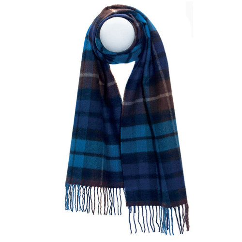 Darwin Buchanan Blue Large Luxury Oversized Lambswool Scarf